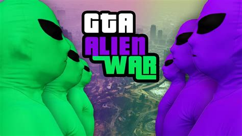 feature green  purple  alien gang war