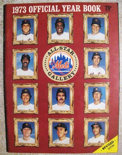 lot detail   york mets yearbook revised edition