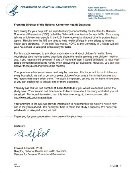 cdc  calling  households  demanding child immunization records  part  vaccine