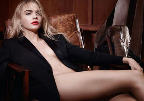 cara delevingne goes nearly naked for ysl beauty