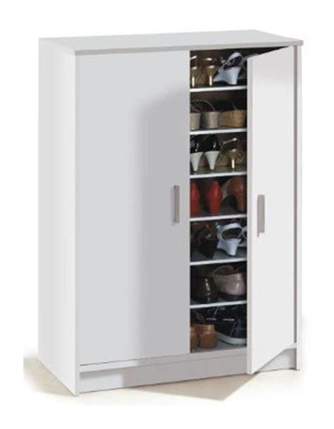 chaussure de cuisine noir armoire à chaussures adel avec 2 portes et 6 étageres 30
