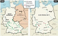 Map Us Army Bases In Germany | USAREUR | Pinterest | Army base