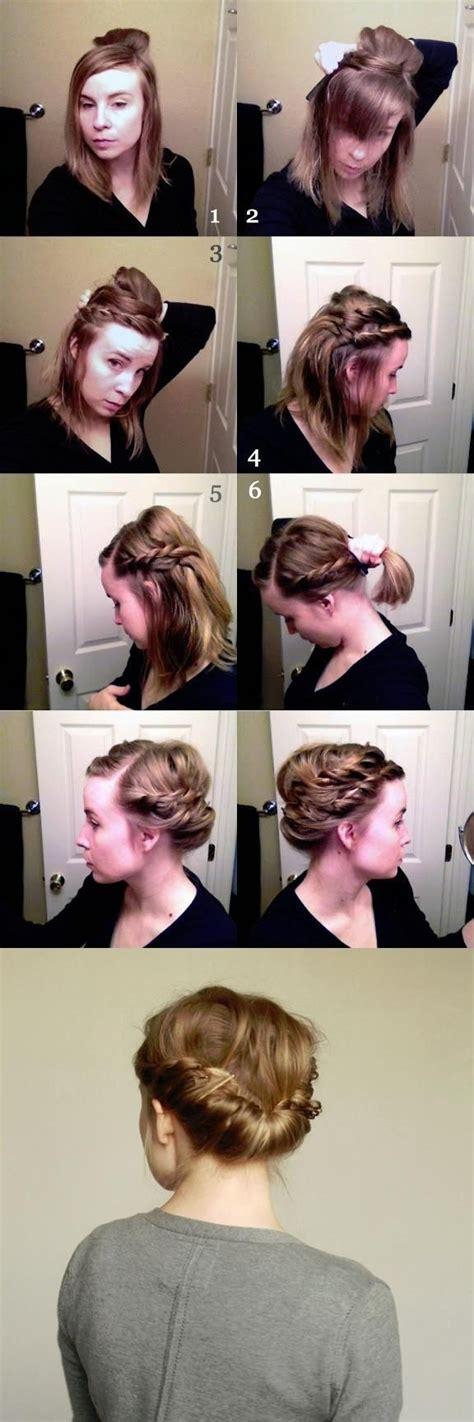 double braid hairstyle tutorial updos for medium hair