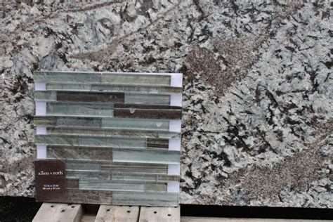 Green Backsplash Tile by How To Choose Between Light And Dark Granite Katie Jane