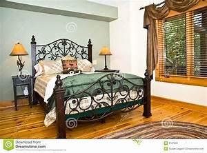 Modern Bedroom/Rustic Decor Stock Photo - Image: 9107520