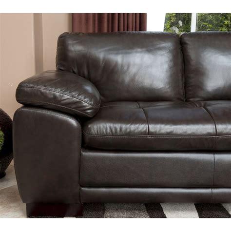 dark brown sectional sofa abbyson living ci n680 brn tivoli premium italian leather
