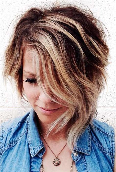 Hairstyles With Highlights by Asymmetrical Haircuts With Balayage Highlights 2018