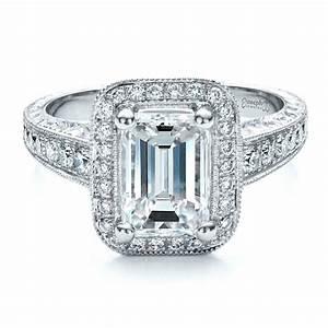 custom emerald cut diamond engagement ring 1478 With emerald cut wedding ring