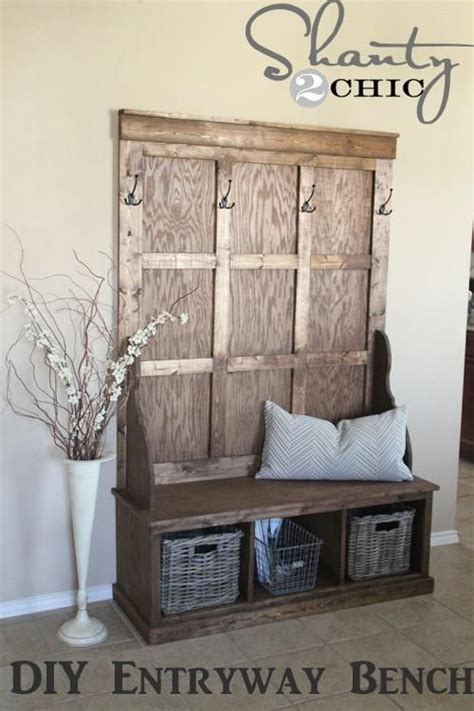 hall tree storage bench plans woodworking projects plans