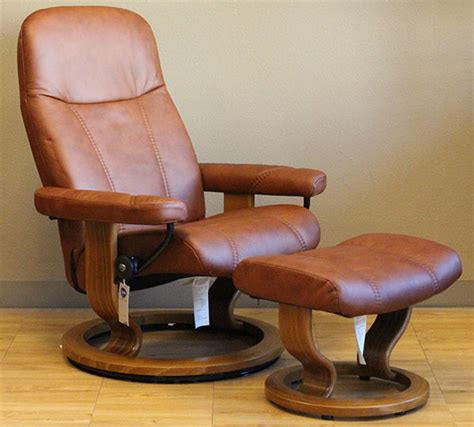 stressless diplomat small consul recliner chair and