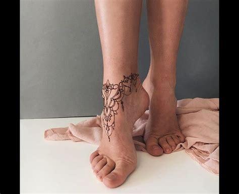 ankle foot tattoo pins henna tattoo foot