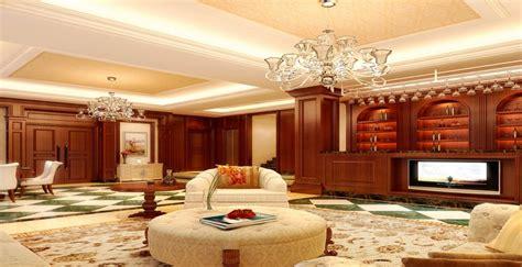 British Luxury Living Room Interior Design 3d