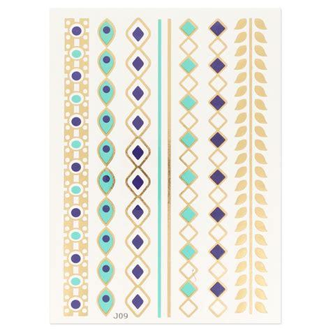 Planche Tatouages Temporaires  Chaînes  Modèle 3 X1
