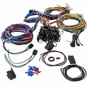 21 Circuit 17 Fuses Wiring Harness Hot Rod Universal Wire