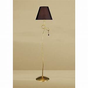 mantra m0543 bs paola floor lamp 1 light gold painted With bs 1 floor lamp