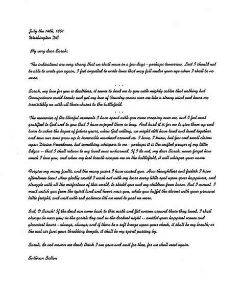 sullivan ballou letter sullivan ballou letter a farewell letter from a civil war 29933