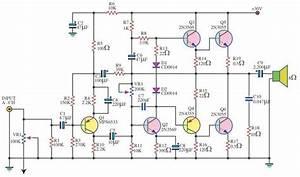 140 Watt Audio Amplifier Using 6 Transistors
