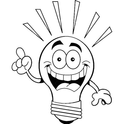 coloring ideas light bulb coloring pages
