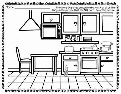 Safety Kitchen Preschool Worksheet Safe Activity Things
