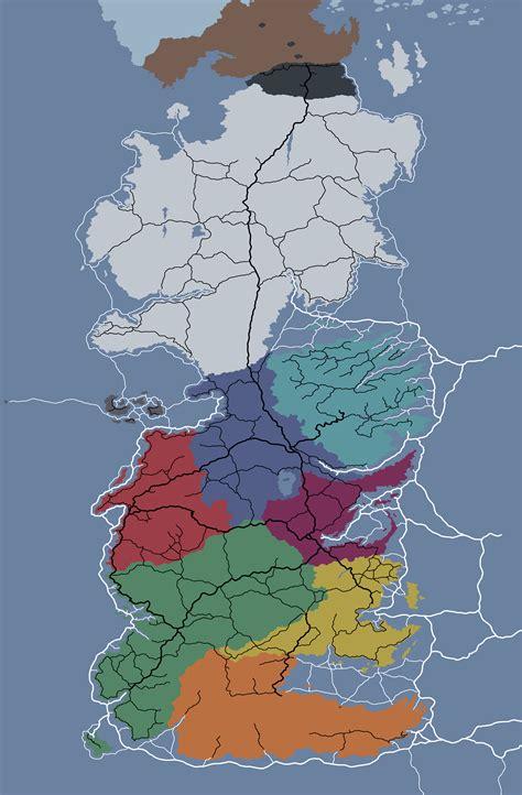 drew  political map  westeros  roads