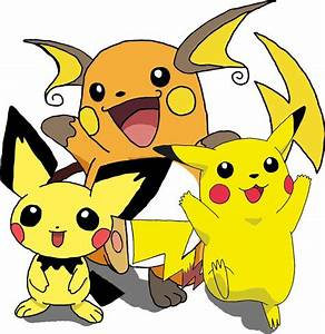 Pokemon Pichu Evolution Picture Pokemon Pikachu Raichu And ...