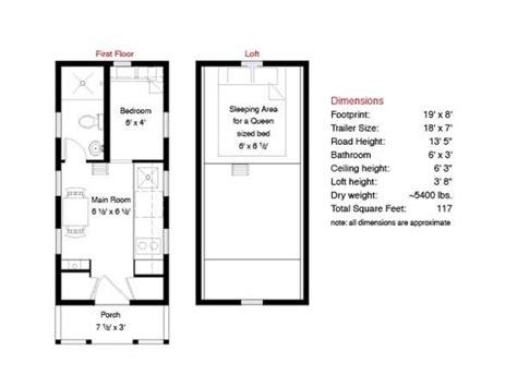 tiny house floor plans  sq ft tiny house floor