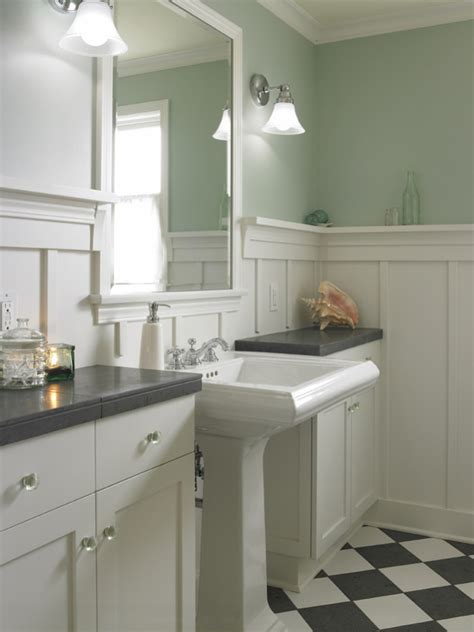 bathroom ideas with wainscoting twine how to update a 70 39 s bathroom
