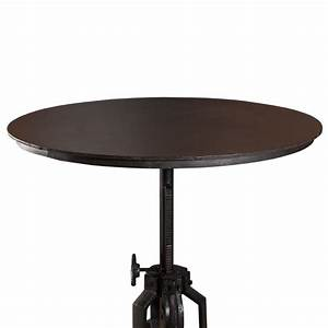 Table Ronde Industrielle : table ronde industrielle t glable en hauteur ulysse maison et styles ~ Teatrodelosmanantiales.com Idées de Décoration