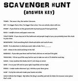 Teen scavenger hunt riddles