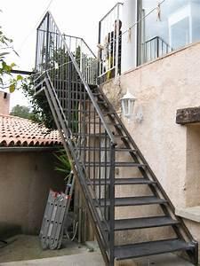 escaliers exterieur acces terrasse faufer With escalier de terrasse exterieur