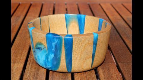 Epoxy Resin Rotbuche Schale Bowl