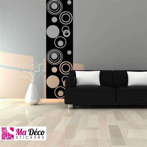 sticker papier peint ronds design pas cher stickers design discount stickers muraux madeco