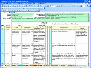 26 images of hazop format excel template learsycom for Hazop template xls