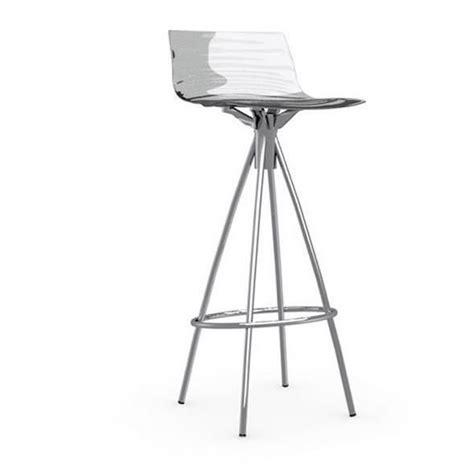 chaise de bar transparente chaise de bar design l 39 eau de calligaris transparente