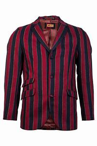 GABICCI VINTAGE MENS NAVY BLUE RED STRIPE BUTTON BLAZER