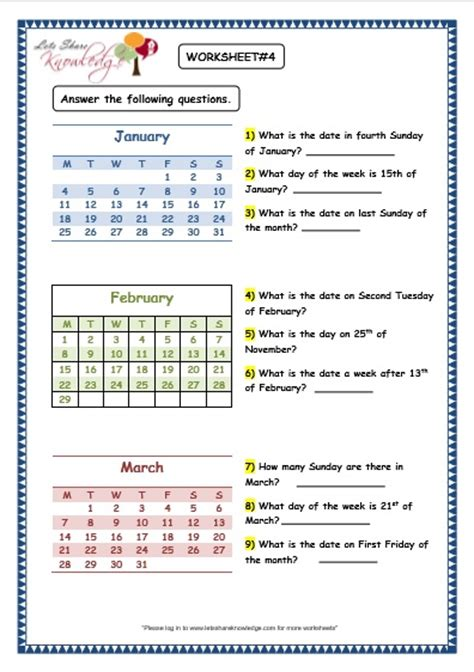 all worksheets 187 calander worksheets printable