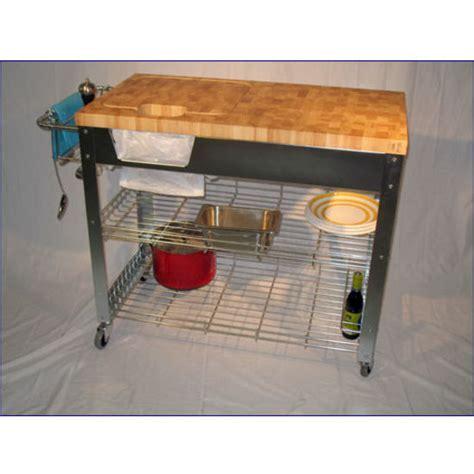Chris & Chris Stadium Kitchen Workstation Cart   End Grain