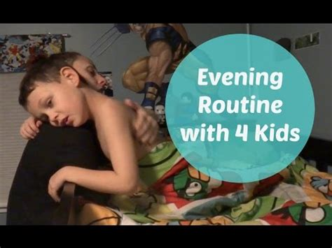 Evening Routine With 4 Kids  Ditl Sahm  Youtube