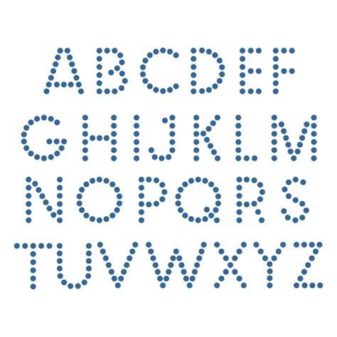 dot alphabet cuttable font