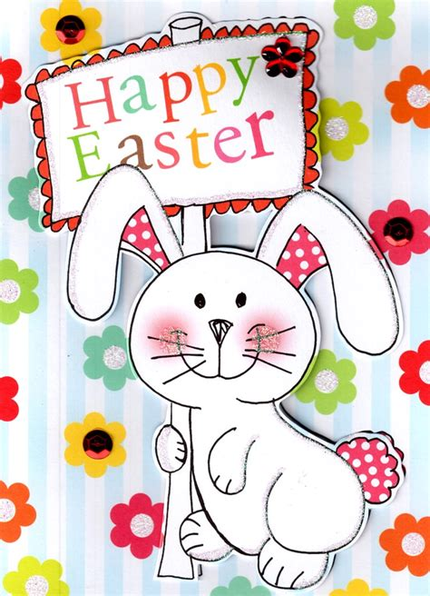 Happy Easter Cute Easter Bunny Card Cards