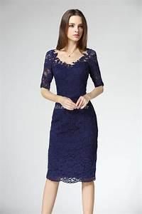 elegante robe fourreau fine et souple dentelle With robes dentelles