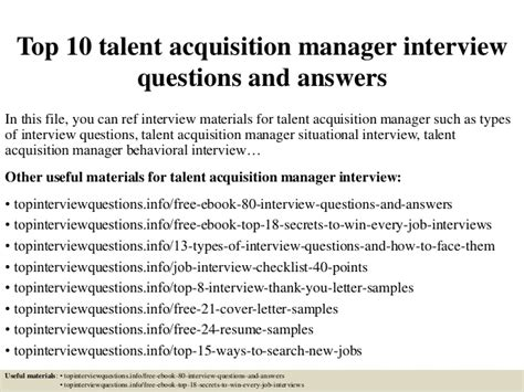 Questions For Production Manager And Answers by Top 10 Talent Acquisition Manager Questions And