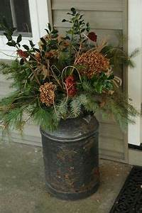 Christmas planters on Pinterest