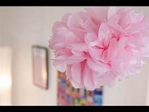 Fleur En Papier De Soie : diy d co pompon fleur en papier de soie youtube ~ Nature-et-papiers.com Idées de Décoration