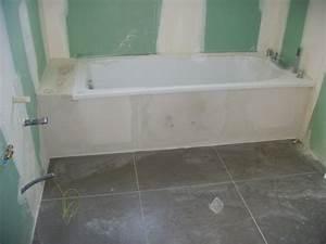 Habillage De Baignoire : habillage baignoire construction maison ~ Dode.kayakingforconservation.com Idées de Décoration