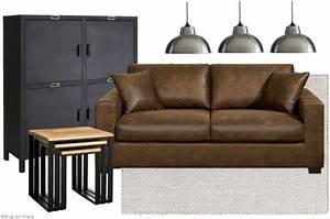 le style industriel en soldes joli place With tapis d entrée avec canapé le corbusier 3 places