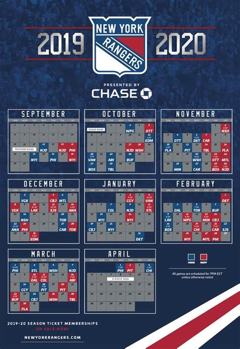 york rangers schedule