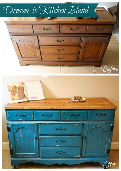 make a kitchen island from a dresser best 25 dresser kitchen island ideas on 9894