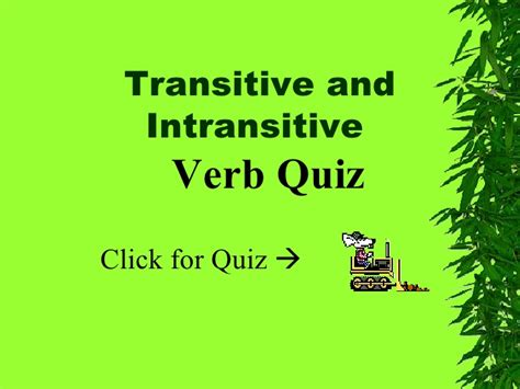 Transitiveintransitive Verbs