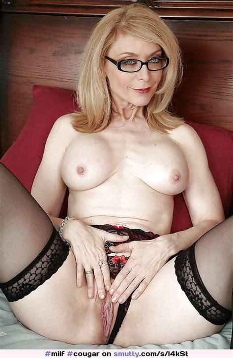 Milf Cougar Ninahartley Shaved Shavedpussy Glasses Bigboobs Gilf Blonde Stockngs I